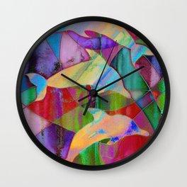 Caught in rainbow nets Wall Clock