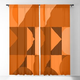 Desert Vibes Geometric Shapes in Terracotta and Burnt Orange Blackout Curtain