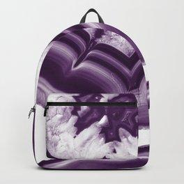 Purple Agate Glam #1 #gem #decor #art #society6 Backpack
