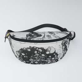 Monochrome Magic Fluid Acrylic Fanny Pack