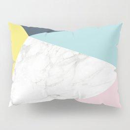 Geometric Pastels Marble Pillow Sham