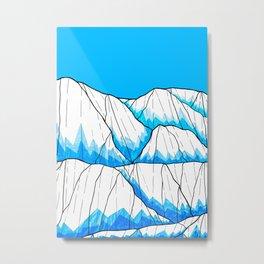 Glacier hills Metal Print