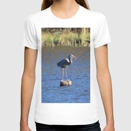Heron On A Stump T-shirt