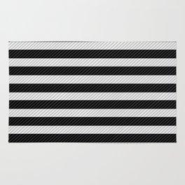 Sleepy Black and White Stripes Rug