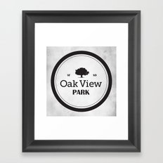 Oak View Park Framed Art Print