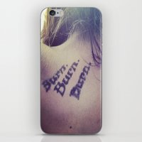 kerouac iPhone & iPod Skins featuring kerouac by Marina Khamhaengwong
