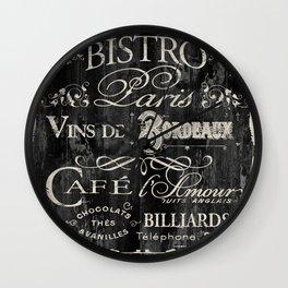 Paris Bistro V Wall Clock