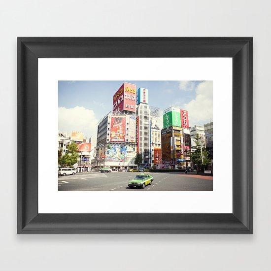 Tokyo Candyland Colors Framed Art Print