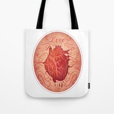 Anatomy of a Heart in Love Tote Bag