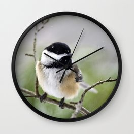 Chickadee Bird Wall Clock