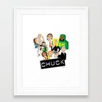 chuck Framed Art Prints featuring CHUCK by Seedoiben