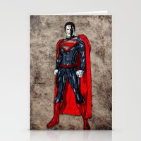 man of steel Stationery Cards featuring Steel Man by UvinArt