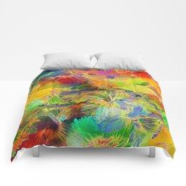 Hibiscus Trumpets #3 Comforters