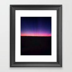 galaxy sunset Framed Art Print