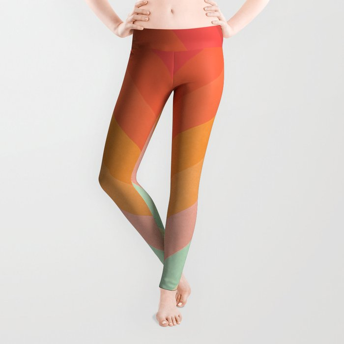 Rainbow Chevrons Leggings