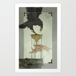 Dark Wood Tarot - ACE OF CUPS Art Print