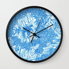 March's Blue 8 | Artline Drawing Pens Sketch Wall Clock