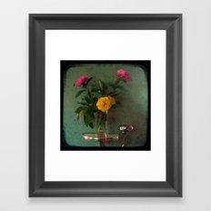 Grandma's Peonies - Through The Viewfinder (TTV) Framed Art Print
