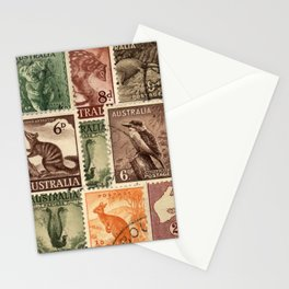 Vintage Australian Postage Stamps Collection Stationery Cards