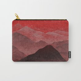 Through hilly lands and hollow lands - Red option Carry-All Pouch