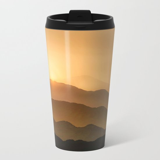 Sunrise in the mountains - beautiful morning - #Society6 #buyart Metal Travel Mug