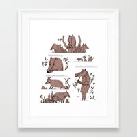 badger Framed Art Prints featuring badger by Jon Boam