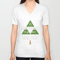 quotes V-neck T-shirts featuring Zelda Quotes by Janismarika