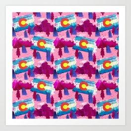 WaterColorado Pink Art Print