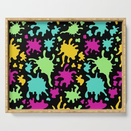 Colorful Paint Splatter Pattern Serving Tray