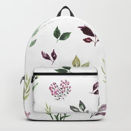 Tiny watercolor leaves Backpack