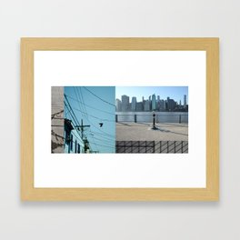 Up / Down / Across Framed Art Print