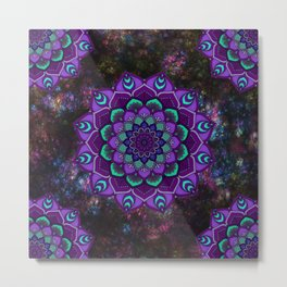 beauty mandala in purple Metal Print