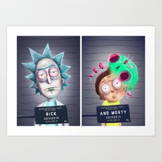 Rick and Morty for 100 years Rick and Morty! Art Print