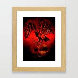 SWITCHBLADE VULTURE Framed Art Print