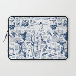 Da Vinci's Anatomy Sketchbook // Dark Blue Laptop Sleeve