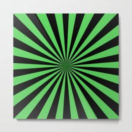 Starburst (Black & Green Pattern) Metal Print