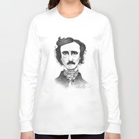 edgar allan poe Long Sleeve T-shirts featuring Edgar Allan Poe by Sydney Morrow