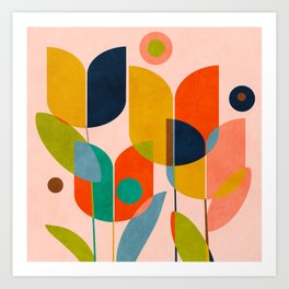floral shapes III Art Print