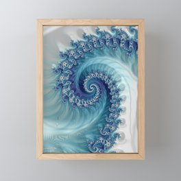Sound of Seashell - Fractal Art Framed Mini Art Print