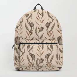 Poppy Pod Pattern Backpack