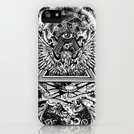 Illuminati Temple Crest iPhone Case