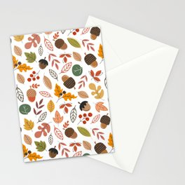 Hello Fall Pattern Stationery Cards
