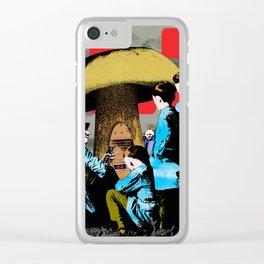 Magic mushroom Clear iPhone Case