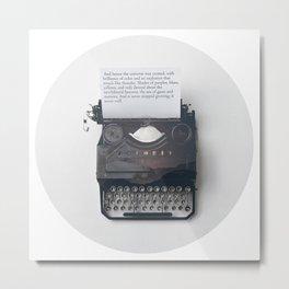Universal Typewriter Metal Print