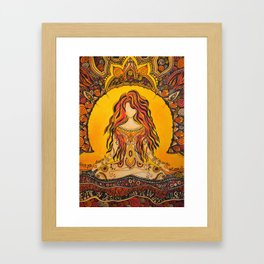 Meditation woman Framed Art Print
