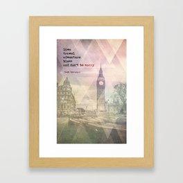 Jack Kerouac 1 - Live, Travel, Adventure, Bless Framed Art Print