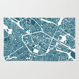 Brussels City Map I Rug