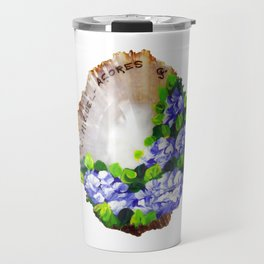 Handpainted seashell Travel Mug