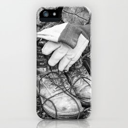 Manual Labor - Firewood 2 iPhone Case