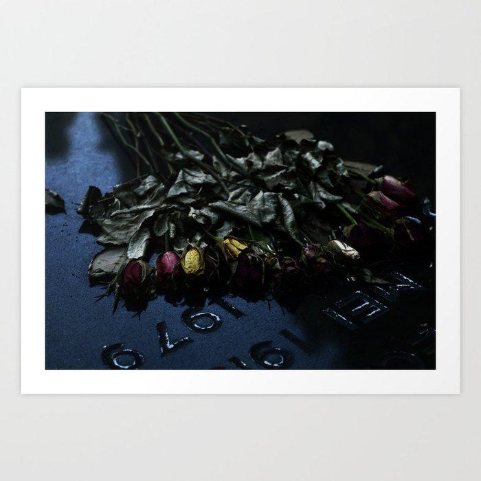 The Flowers Knelt Art Print